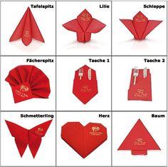 Die 95 besten Bilder von DIY Servietten falten | Napkin folding ...
