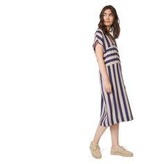Monoprix - Robe longue rayée en soie - MONOPRIX FEMME