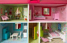 Neugestaltung eines Puppenhauses: 4. Bettwäsche, Gardinen und eine Mini-Schneiderpuppe nähen: http://www.kreativlaborberlin.de/neugestaltung-eines-puppenhauses-4-bettwaesche-gardinen-und-eine-mini-schneiderpuppe-naehen/