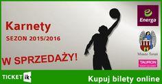 Karnety Energa Toruń sezon 2015/2016. Już dostępne w sprzedaży na www.ticketik.pl. Ceny od 160 PLN: http://ticketik.pl/#!/Wydarzenie/28