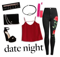 """""""date night"""" by cjflynn on Polyvore featuring Chicwish, Steve Madden, Alex and Ani, Charlotte Russe and MAC Cosmetics"""