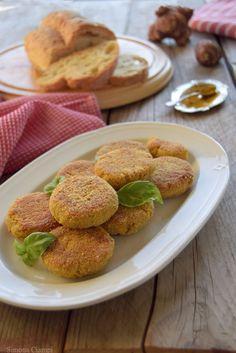 Polpette di topinambur e pane al curry