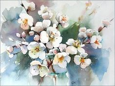 Watercolors by Maria Stezhko (Акварели Марии Стежко): Spring blossoms: