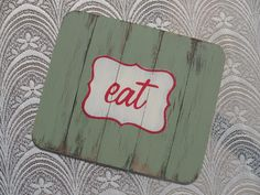 Distressed wood place mats by Mossie (www.mossiecrafts.co.za or http://www.facebook.com/MossieCrafts on Facebook )