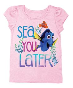 Look at this Light Pink Finding Dory 'Sea You Later' Tee - Toddler on #zulily today!
