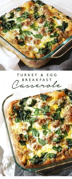 Turkey & Egg Breakfast Casserole This is one of my easy go-to healthy breakfast recipes. The Turkey Egg Breakfast Casserole is also a family. Healthy Breakfast Recipes, Brunch Recipes, Healthy Recipes, Dinner Recipes, Detox Breakfast, Simple Recipes, Healthy Foods, Superfood Recipes, Clean Eating
