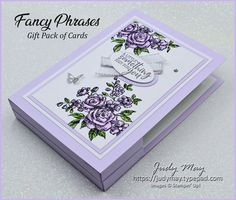 Stampin' Up! Fancy Phrases Gift Pack of Birthday Cards - Judy May, Just Judy Designs, Melbourne Healing Hugs, Card Organizer, New Year Card, Craft Business, Stamping Up, Flower Cards, Vintage Cards, Homemade Gifts, Stampin Up Cards