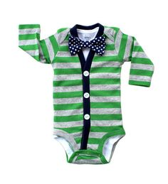 hipster baby clothes-- Jackson received an outfit like this from his Auntie Lauren. Adorable!