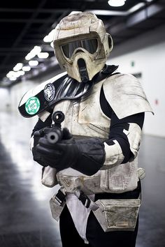 Awesome Scout Trooper cosplay seen at Wondercon. Photo by Onigun.