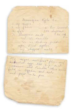 """Nerwegian Apple Pie - Found in """"The Gathering Storm"""" by Winston S. Published by Houghton Mifflin (Book Club Edition), Apple Pie Recipes, Old Recipes, Sauce Recipes, Apple Water, Vintage Housewife, Apple 4, Sweet Pie, The Gathering, Raisin"""