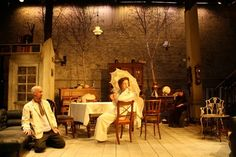 Sophie Jump, Uncle Vanya, Arcola Theatre, 2011 - set is cool, i like the trees in the background