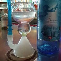 The #Slipstream Absinthe Glass with @laclandestine #absinthe. No Sugar Blow to Mix!