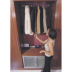 Closet Storage Make Good Use Of High Ceilings To Add A Clothes Rack Reval  Pull Down Wardrobe Lift Allows You To Store Clothing Almost Anywhere Great  Storage ...
