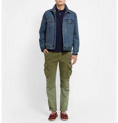 How to wear Cargo pant Mens Designer Polo Shirts, Designer Clothes For Men, Mens Wardrobe Essentials, Men's Wardrobe, Ralph Lauren Slim Fit, Polo Ralph Lauren, Pique Polo Shirt, Top Designer Brands, Khaki Pants