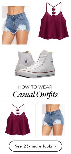 """Casual outfit!!!"" by ma-fercota on Polyvore featuring Converse"