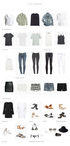 Capsule Wardrobe by Observant Nomad Minimal Wardrobe, Wardrobe Basics, My Wardrobe, Capsule Wardrobe Neutral, Basic Wardrobe Essentials, Travel Wardrobe, Summer Essentials, Summer Wardrobe, Capsule Outfits