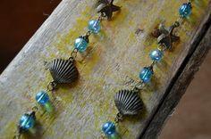 Sea Blue Necklace by AmarisJewelry on Etsy