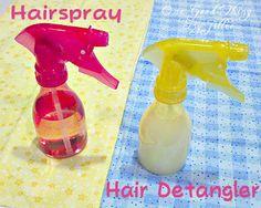 Make Your Own Homemade Hairspray and Hair Detangler.