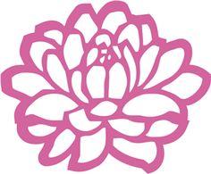 Floral filigree dahlia------------------Silhouette Online Store - View Design #15947: floral filigree dahlia
