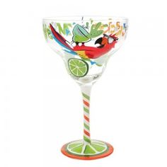 Top Shelf Forget the Cracker Hand Painted Margarita Glass