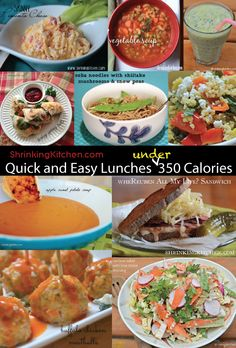 These Quick and Easy Lunches Under 350 Calories can be ready to go for your lunch, keeping you within your calories and daily points.
