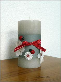 pot à crayon Diy Candles, Pillar Candles, Pot A Crayon, Decoration, Dahlia, Composition, Bouquet, Scrapbooking, Craft Ideas