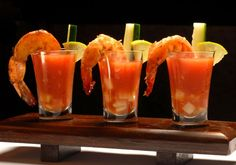Agave Glazed Tequila Shrimp Shooters with Tropical Gazpacho
