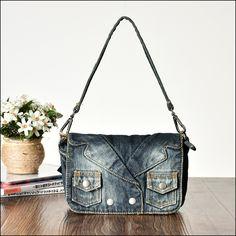 Denim Shoulder Bags, Store, Jeans, Fashion, Moda, Fashion Styles, Larger, Fashion Illustrations, Shop