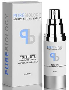 "Pure Biology ""Total Eye"" Anti Aging Eye Cream Infused with Instant Lift Technology & Baobab Fruit Extract. Truly all-purpose anti-aging eye cream with 90% natural ingredients for the reduction of fine lines, wrinkles, puffiness, bags & dark circles while protecting delicate under eye skin from UV rays and free radicals. (This is an Amazon affiliate link and I receive a commission for the sales)"