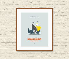 ROMAN HOLIDAY Minimalist Movie Poster. Audrey Hepburn Poster.  This Roman Holiday minimalist poster is the perfect choice for your modern home and makes a great gift for all the Audrey Hepburn fans.The chic minimal design will compliment any wall in your house, adding a distinctively modern sensibility.  Printed on fine archival matte paper with high-quality archival inks, it will last for years to come. This item is for prints only. Mat and frame not included.  ---------  SIZE…