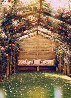 Beautiful reading area for the back yard