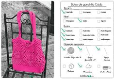 Patrón bolsa red de ganchillo - Costurea Blog Knitting For Kids, Baby Knitting Patterns, Baby Patterns, Crochet Baby, Knit Crochet, Crochet Market Bag, Knit Baby Booties, Bebe Baby, Crochet Projects
