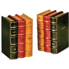 Leather Books Bookends ($485) ❤ liked on Polyvore