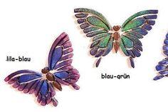 Mosaiksteine - Mosaic tiles - Schmetterling - Butterfly - Glittereffekt - gross/large von MotivMosaics auf Etsy