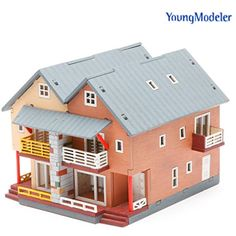[YOUNGMODELER] Desktop Wooden Assembly Model Kits (Duplex House) >>> You can get more details by clicking on the image. (This is an affiliate link) #Hobbies