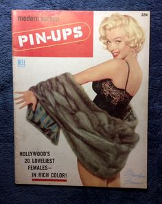 VOL 1 # 1 1955 MARILYN MONROE ON COVER MODERN SCREEN-PINUPS-30 PAGE MAGAZINE