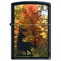 Zippo Lighter - Autumn Buck Black Matte 852172