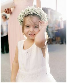 #head wreath #babysbreath #flowergirl #wedding #weddingkefalonia #kefalonia Girls Dresses, Flower Girl Dresses, Wreaths, Bridal, Wedding Dresses, Flowers, Fashion, Dresses Of Girls, Bride Dresses