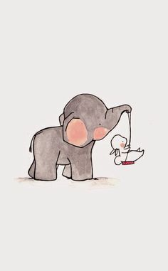 Image result for baby elephant looking back illustration