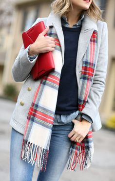 Add a pop of color to your winter layers with accessories! Penny Pincher Fashion