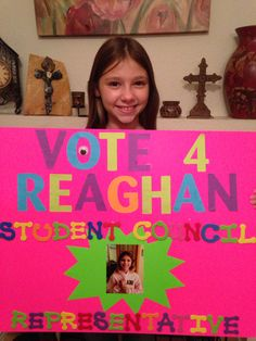 Elementary student council poster