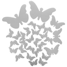 Home Decor Gift Butterfly Big Wings Mirrors Decorative Wall Decal Wall Sticker Wall Sticker, Wall Decals, Butterfly Wall Decor, Decoration, Wings, Silver, Decor Ideas, Gift, Home Decor