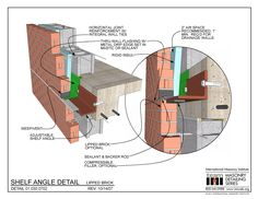 01.030.0702: Shelf Angle Detail - Lipped Brick | International Masonry Institute