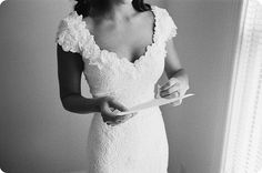 lovely lace and sweetheart neckline