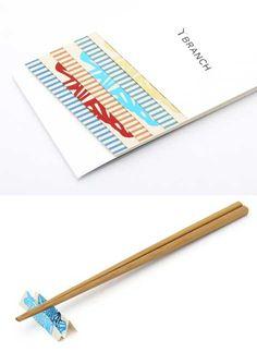 Paper chopstick rest