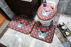 ルイヴィト 浴室足ふきマット gucci トイレ浴室マットエルメス方形マット3点セットU型トイレマット Toilet Mat, Bathroom Carpet, Mirror Shapes, Stripes Fashion, Nordic Style, Seat Cushions, Fashion Brand, Gucci Loafers, High Society