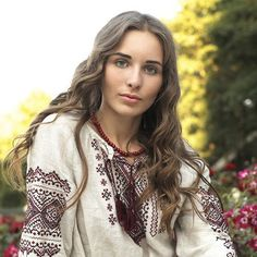 A beautiful Ukrainian girl in a traditional embroidered shirt. Source: https://www.facebook.com/anastasia.kutz