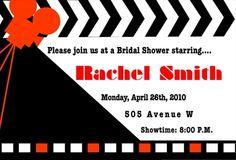 Movie Themed Bridal Shower Invitation