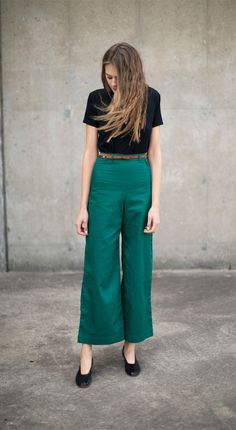 Samantha Pleet Forest Plank Pants & Martiniano Black High Glove