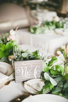 Wedding table decor: http://www.stylemepretty.com/california-weddings/2014/11/21/romantic-wedding-at-the-loft-on-pine/ | Photography: Onelove - http://www.onelove-photo.com/